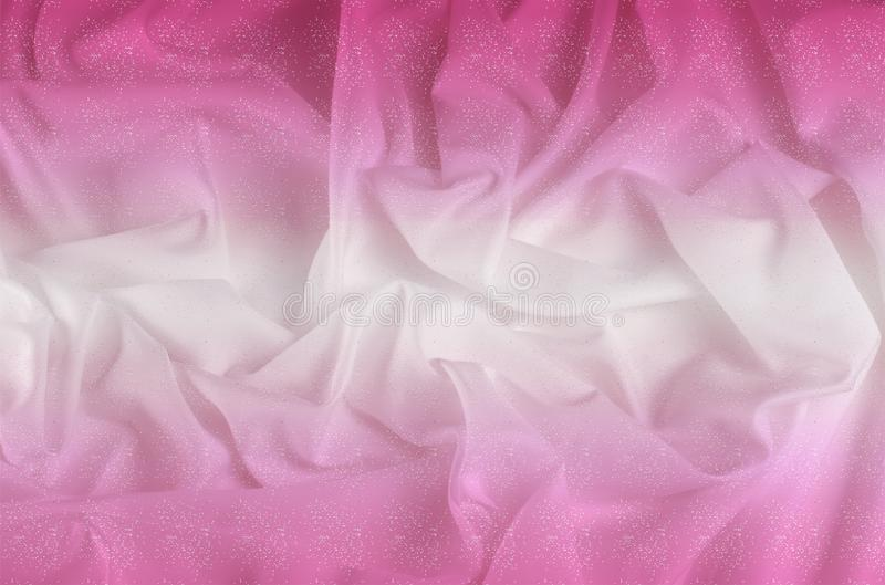 Exture. silk fabric - white pink shine. With flowers that disappear from one to another, and his drapery, flowing with each. Movement, creates truly elegant stock images