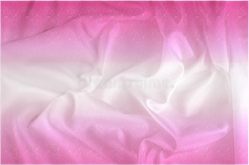 Exture. silk fabric - white pink shine. With flowers that disappear from one to another, and his drapery, flowing with each. Movement, creates truly elegant royalty free stock photos