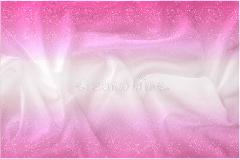 Exture. silk fabric - white pink shine. With flowers that disappear from one to another, and his drapery, flowing with each. Movement, creates truly elegant stock image