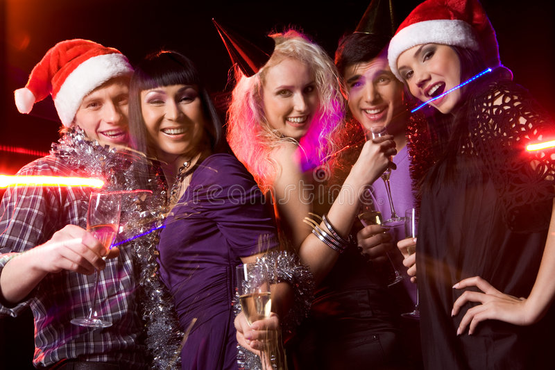 Download Exulting friends stock image. Image of holiday, celebration - 7335223