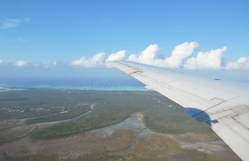 Exuma Cays. Bahamas. Aerial view of Exuma Cays. Bahamas stock image