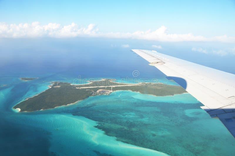 Exuma Cays. Bahamas. Aerial view of Exuma Cays. Bahamas stock images