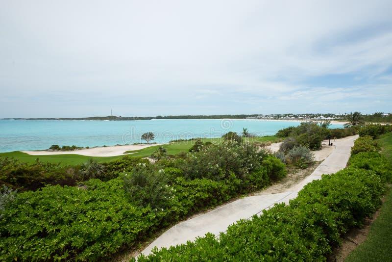 Exuma islands in Bahamas. A view from an island on the Exuma in the Bahamas royalty free stock photos