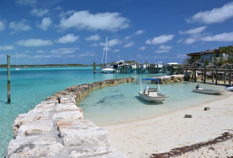 Exuma Kays, Bahamas. Yacht Pier at Exuma Kays, Bahamas royalty free stock photography