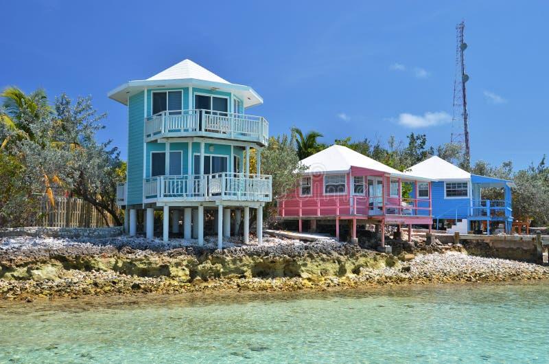 Exumas, Bahamas. Staniel Cay yacht club. Exumas, Bahamas stock image