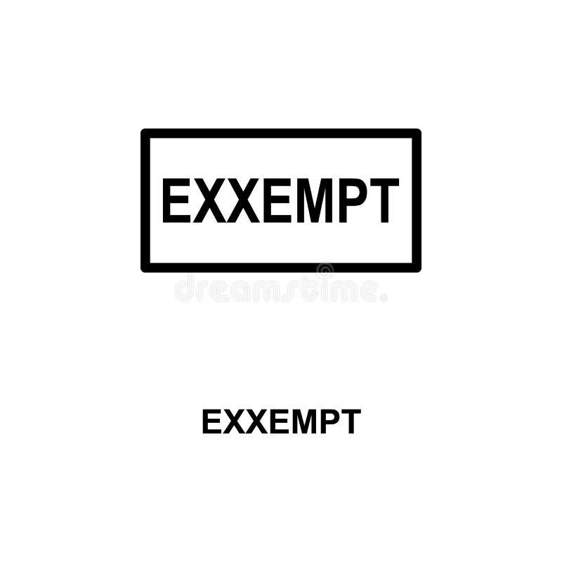 exxempt ruchu drogowego znaka ikona Element kolej podpisuje dla mobilnych pojęcia i sieci apps Szczegółowa exxempt ruchu drogoweg ilustracji
