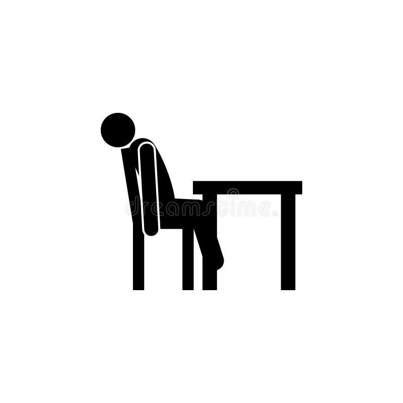 exxhausted svimmad symbol Beståndsdelen av mannen sitter symbolen för mobila begrepps- och rengöringsdukapps Den detaljerade exxh royaltyfri illustrationer