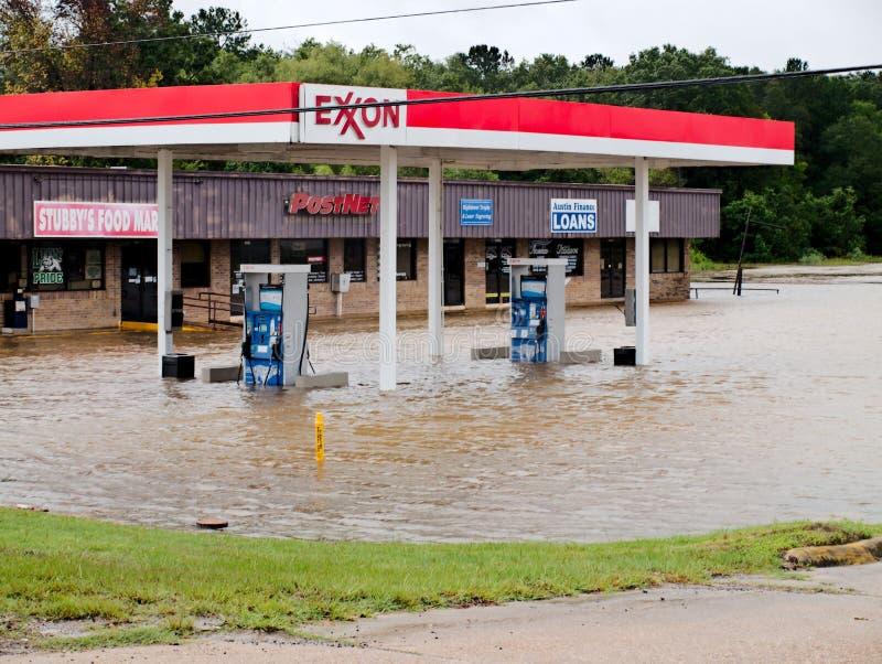 Exxon Livingston Texas Flooding Hurricane Harvey imagens de stock royalty free