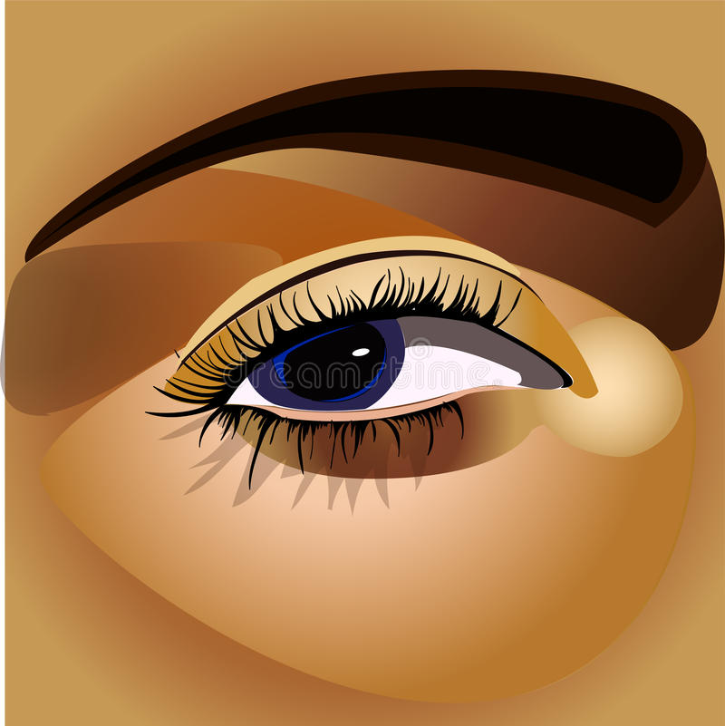 Download Eye stock illustration. Image of face, looking, beauty - 14861576