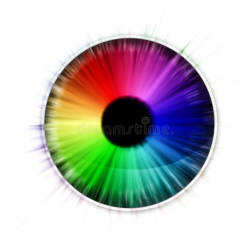 Download Eye stock illustration. Illustration of spectrum, abstract - 22036869