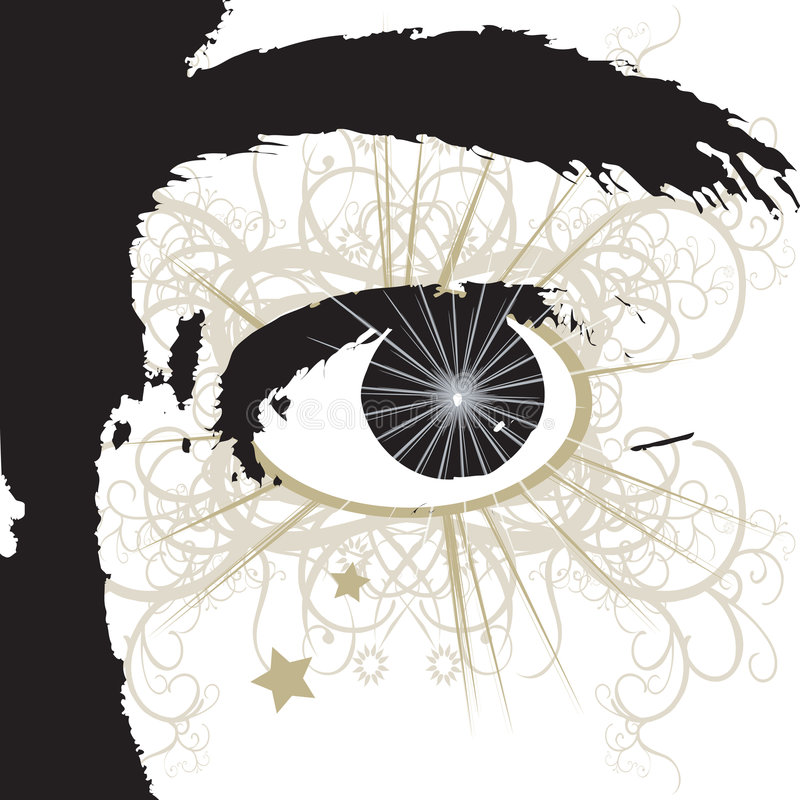 Download Eye stock illustration. Image of decorative, optic, abstract - 2833582
