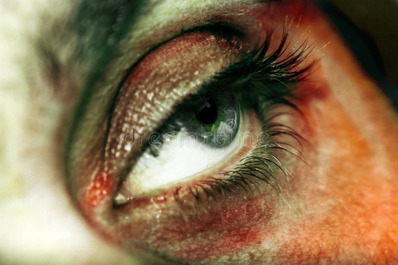 Download Eye stock photo. Image of teal, color, closeup, staring - 2895380