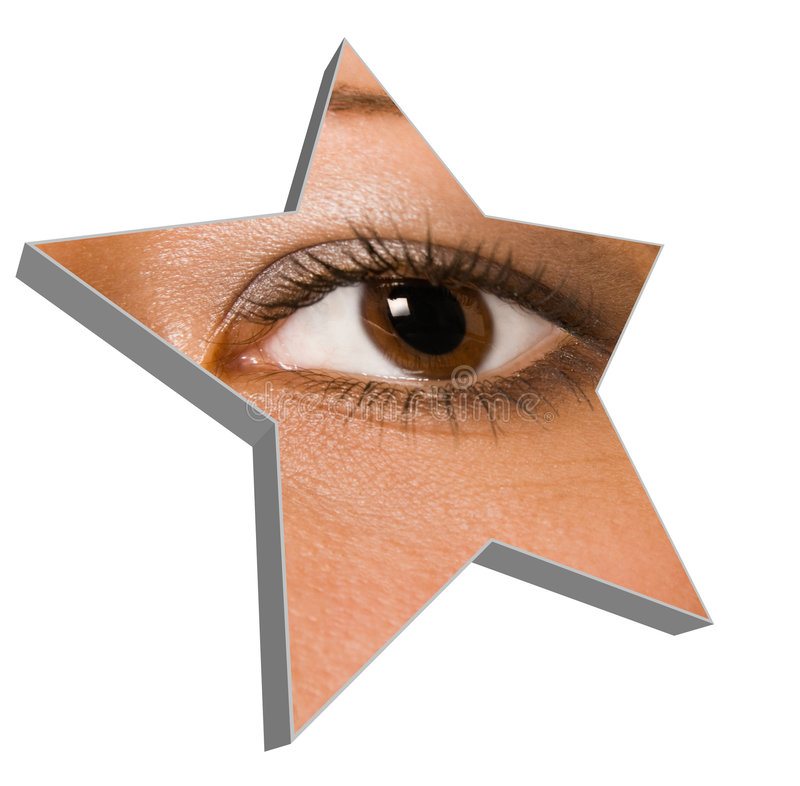 Download Eye stock photo. Image of pupil, make, girl, star, female - 6686978