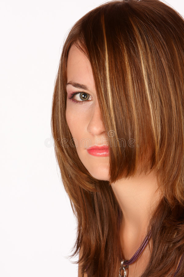 Download The eye stock image. Image of portrait, brown, hairstyle - 8221077