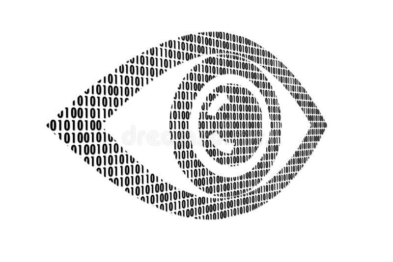 Eye. Illustration of the eye consisting of figures on a white background stock illustration