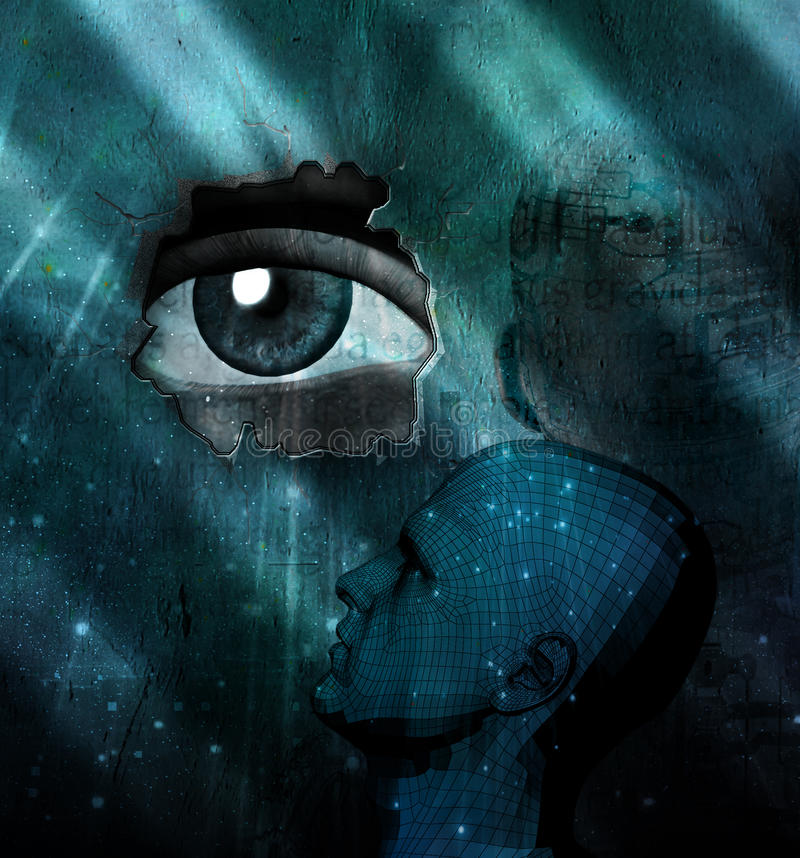 Download Eye Abstract composition stock illustration. Image of magical - 12499460