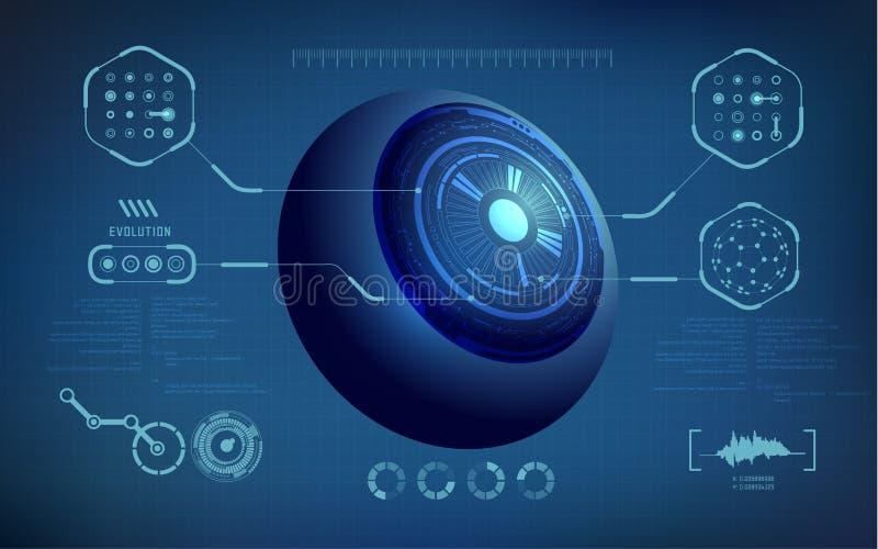 Eye stock vector illustration of digital data hologram 78652329 eye malvernweather Image collections