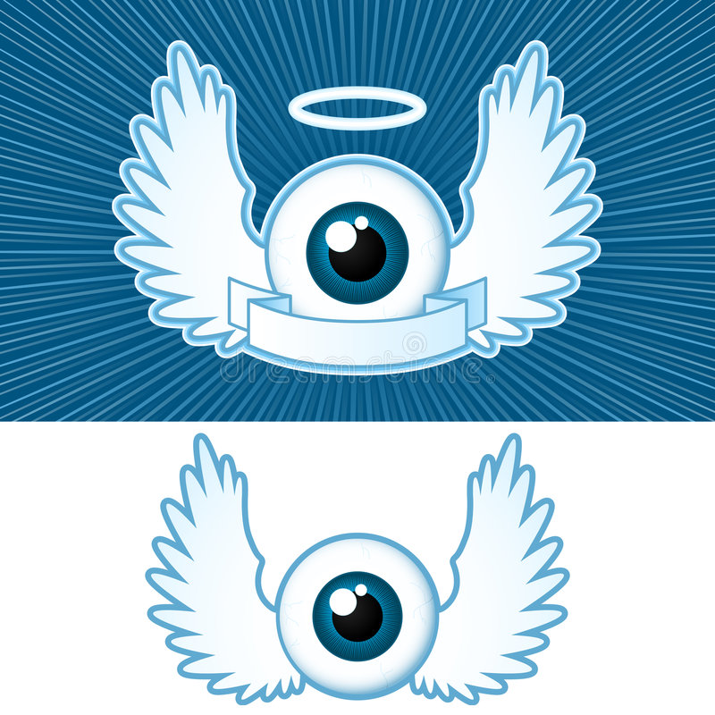 Download Eye With Angel Wings And Banner Stock Photos - Image: 5454833