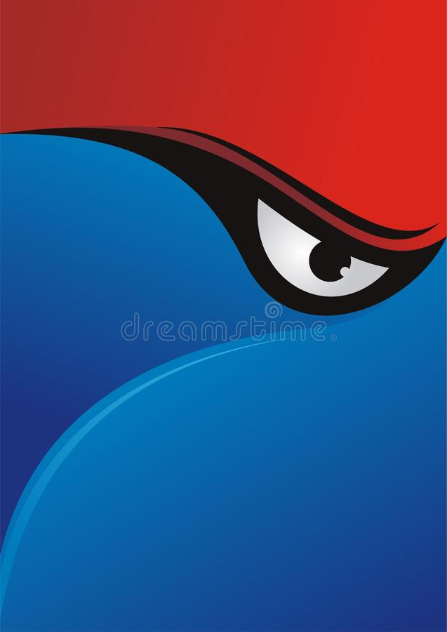 Eye Background with Red - Blue Color Design royalty free stock photos