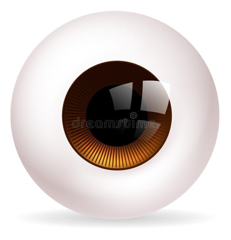 Eye ball royalty free illustration