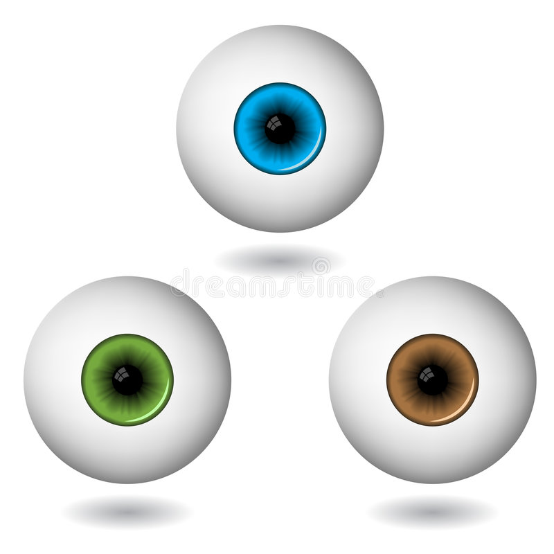 Download Eye balls stock vector. Image of care, macro, human, ophthalmology - 7440311