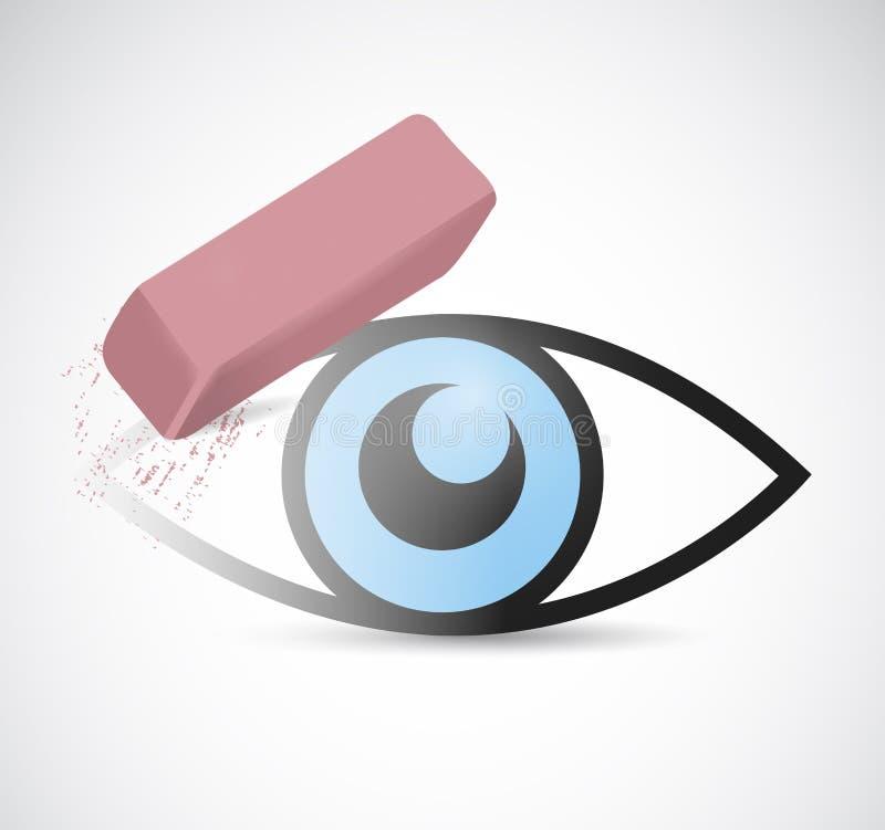 Eye being erase illustration design. Over a white background vector illustration