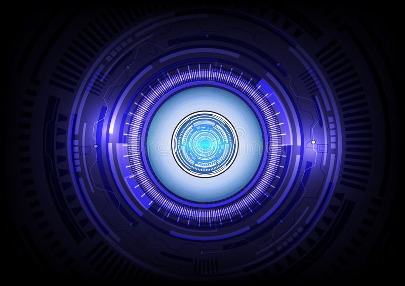 Eye blue abstract technology background. Is a general illustration royalty free illustration