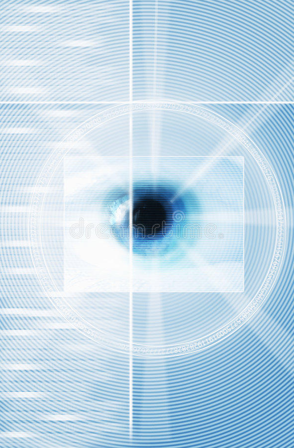 Eye On Blue Graphics stock illustration