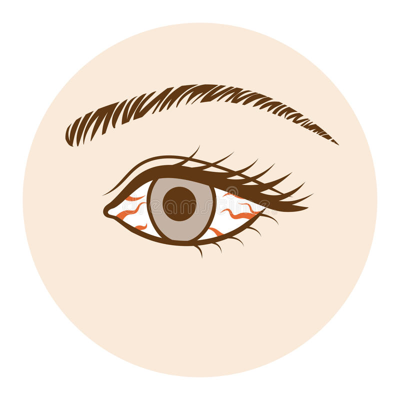 Eye -Body part, Front view stock illustration