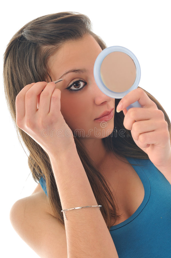 Eye brow beauty treatment royalty free stock image
