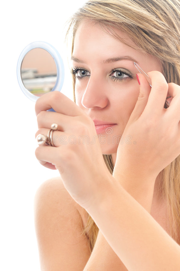 Download Eye brow beauty treatment stock image. Image of close - 8444915