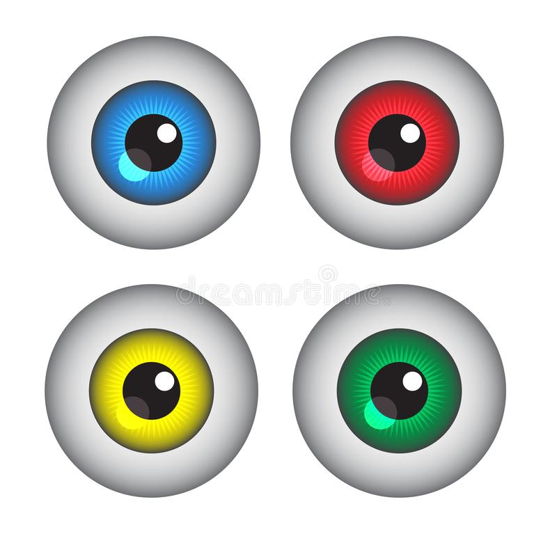 Eye button vector. Is a general illustration royalty free illustration