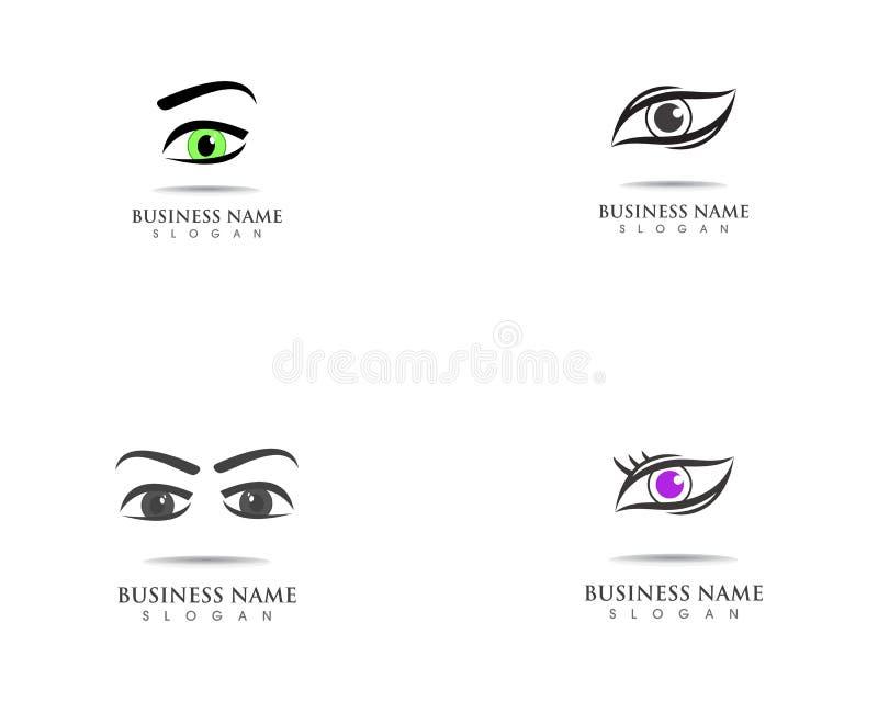 Eye care health logo symbol template vector icon. Eye care health logo symbol template vector icon stock illustration