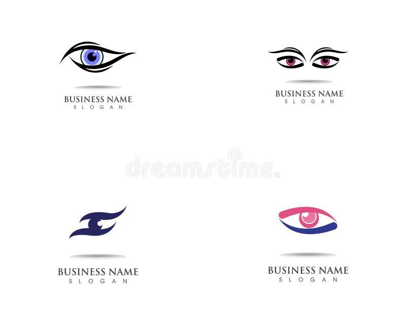 Eye care health logo symbol template vector icon. Eye care health logo symbol template vector icon royalty free illustration