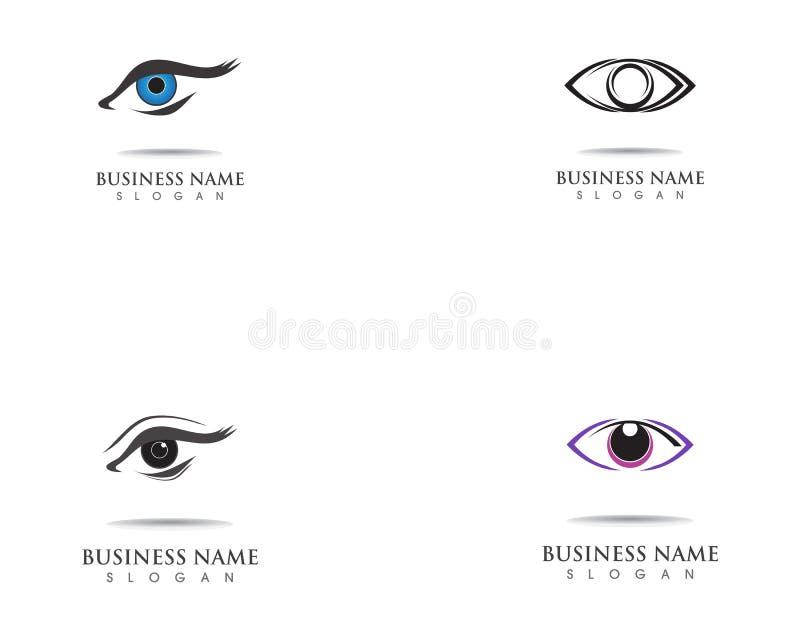 Eye care health logo symbol template vector icon. Eye care health logo symbol template vector icon vector illustration
