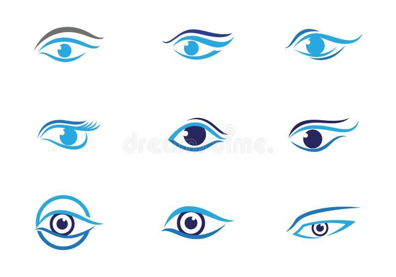 Eye care Logo Template. Vector icon stock illustration