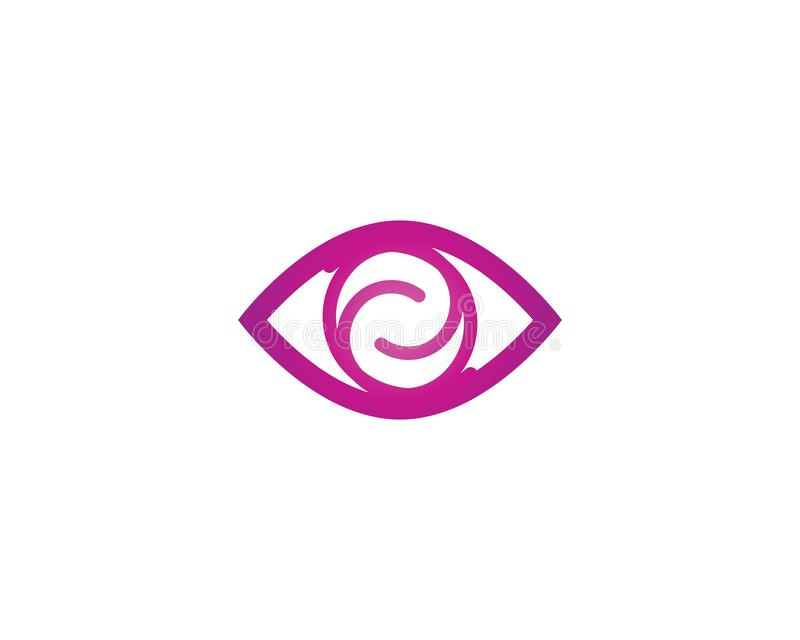Eye Care vector logo design. Branding Identity Corporate Eye Care vector logo design, vision, network, isolated, document, see, eco, view, business, wellness stock illustration