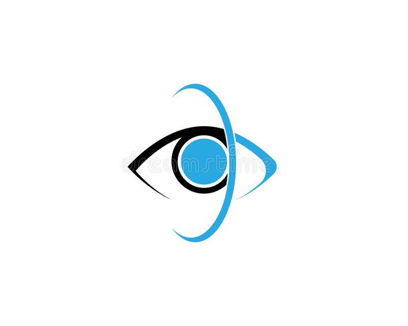 Eye Care vector logo design. Branding Identity Corporate Eye Care vector logo design, vision, network, isolated, document, see, eco, view, business, wellness royalty free illustration