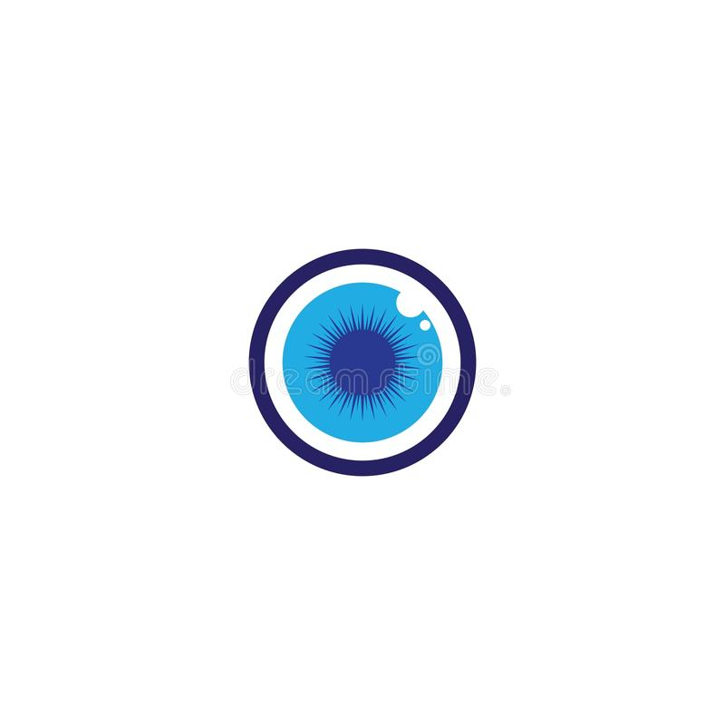 Eye Care vector logo design. Branding Identity Corporate Eye Care vector logo design vision network isolated document see eco view business wellness concept vector illustration