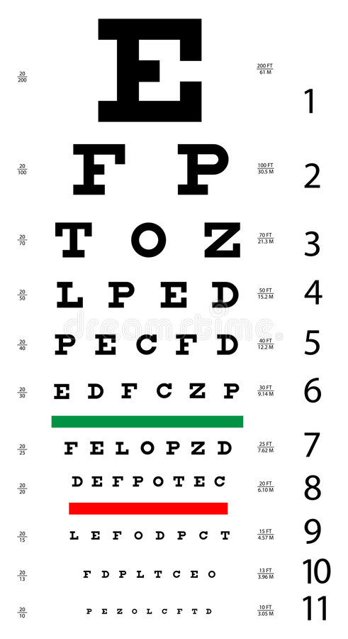Download Eye Chart stock vector. Image of graphic, isolated, healthcare - 9013689