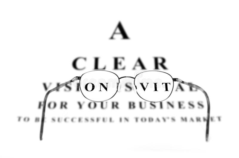 Eye Chart for Business Success and Glasses royalty free stock image