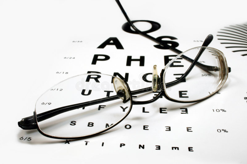 Download Eye Chart With Spectacles Stock Photography - Image: 3671952