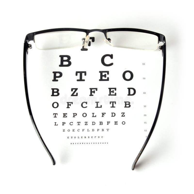 Eye chart test royalty free stock photo