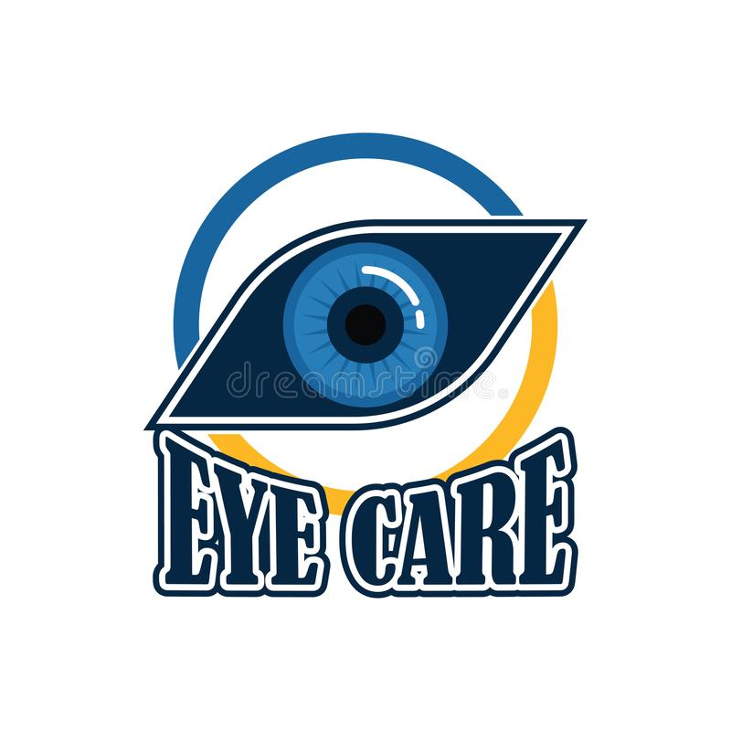 Eye clinic / ophthalmic clinic / ophthalmology / optometrist logo with text space for your slogan / tagline royalty free illustration