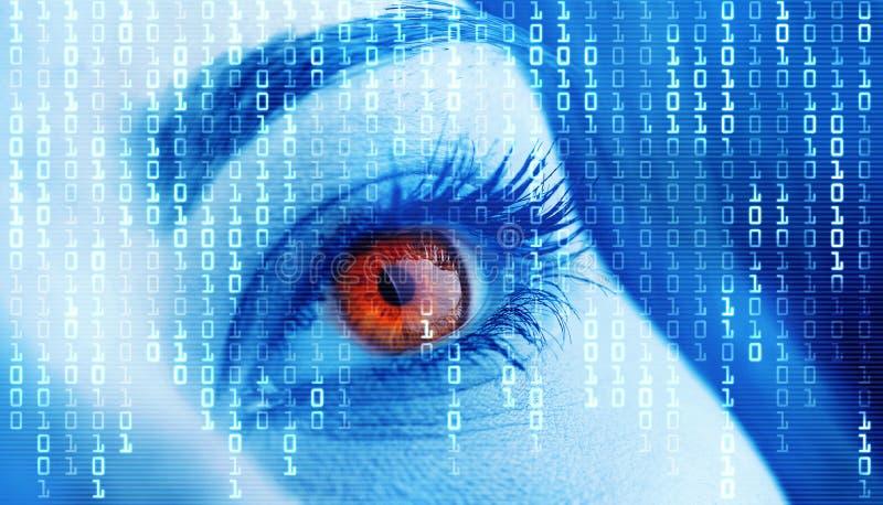 Download Eye close-up stock image. Image of background, electronic - 16089683
