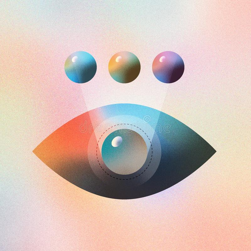 Eye Color Modification Illustration Concept stock illustration