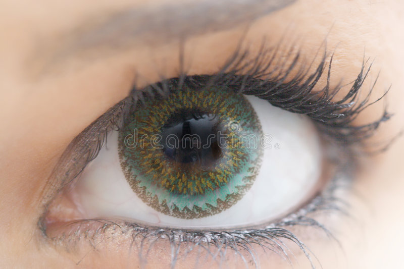 Download Eye with contact lens stock image. Image of blue, texture - 1525217