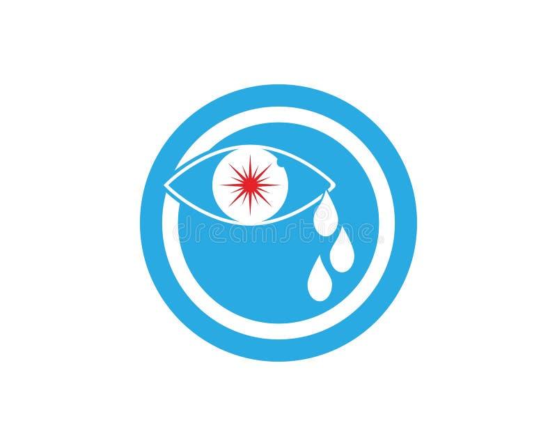 Eye cry logo vector.  royalty free illustration