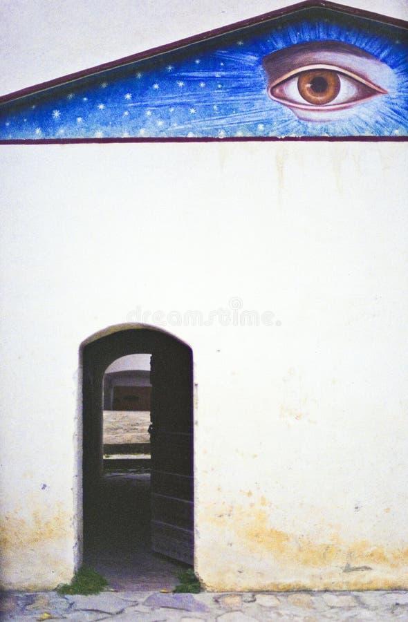 eye det ortodoxa romanian tecknet för gudkloster royaltyfria foton