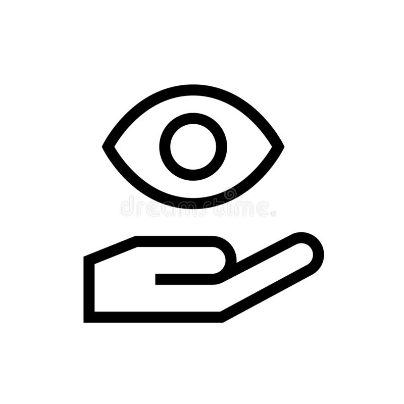 Eye donation icon design body organ transplant community care symbol. line art medical healthcare  illustration. Eps 10 stock illustration